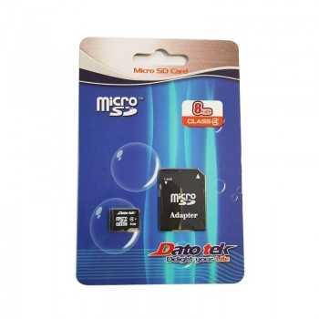Carte Mémoire Micro SD avec Adaptateur DatoTek 8GB