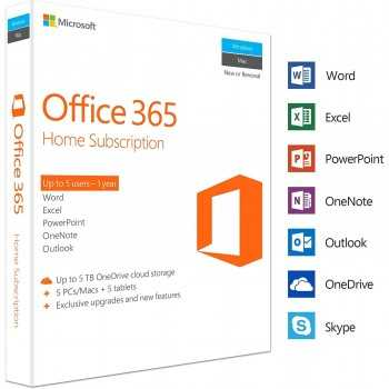 MICROSOFT OFFICE 365 PERSONNEL 1 UTILISATEUR / 1AN + 1TO STOCKAGE