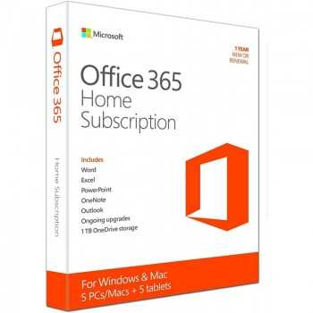 OFFICE 365 HOME 6 UTILISATEURS + 1TO STOCKAGE