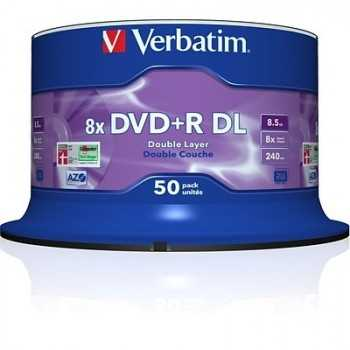 Bobine de 50 DVD+R Double Layer 8.5 Go