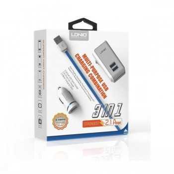 Chargeur LDNIO Multifonction 3en1 USB S100