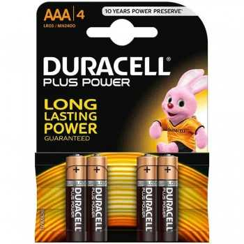 Pile Alcaline Duracell AAA4