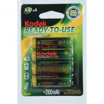 Kodak AA x4 piles 1,2 V 2100 mAh rechargeable