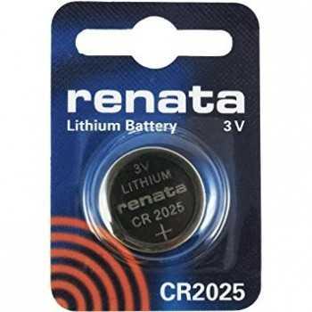 piles CR2025 Renata au lithium 3V