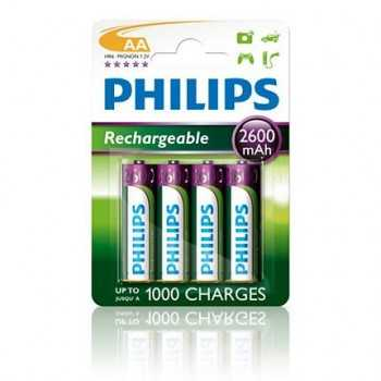 Pile rechargeable 2600mAh Philips AA
