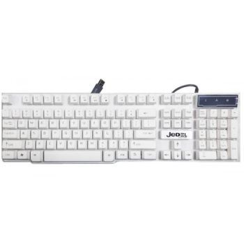 Clavier Gamer JEDEL K150 LED 3 Couleurs (Blanc)