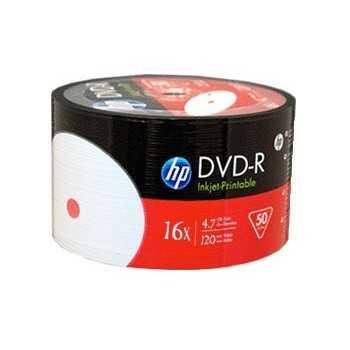 Bobine 50x DVD-R Imprimable HP