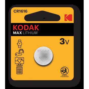 Pile Bouton Kodak CR1616 Ultra Lithium 3V