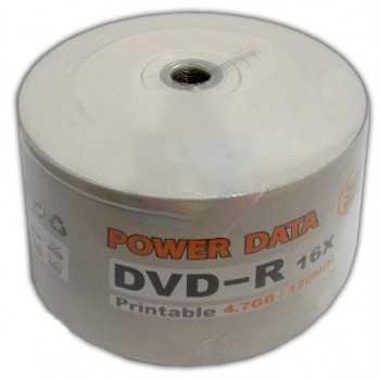 Bobine 50x DVD-R Imprimable Power Data