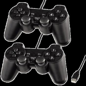 Manette de Jeux Double avec Analogue pour PC