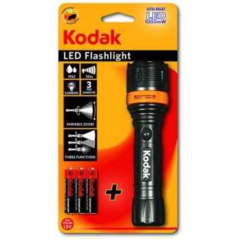 Torche Kodak LED Flashlight 157 Focus + 3 Piles AAA