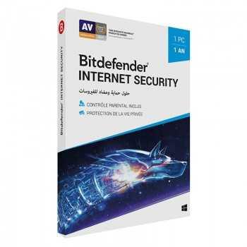 AntiVirus BITDEFENDER Internet Security 2019 ( 1 poste )
