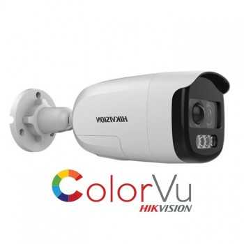 CAMERA 2MP HIKVISION COLORVIEW ALARME SIRENE 40M (DS-2CE12DFT-PIRXOF)