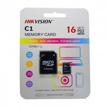 Carte Mémoire HIKVISION 16Go Micro SDXC Class 10 avec Adaptateur