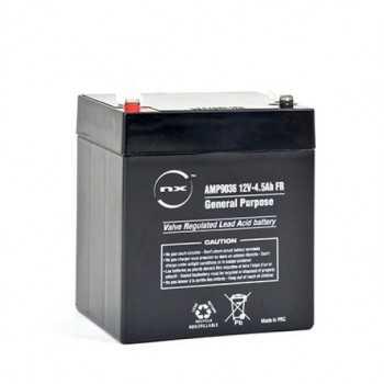 Batterie plomb AGM NX 4.5-12 General Purpose FR 12V 4.5Ah F4.8 - NX