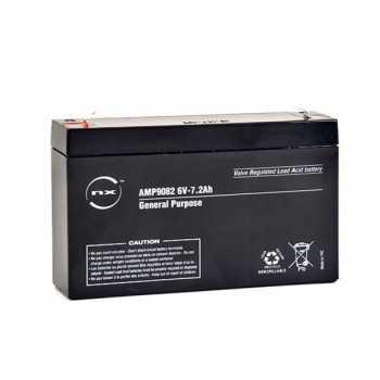 Batterie plomb AGM NX 6V 7.2Ah F4.8