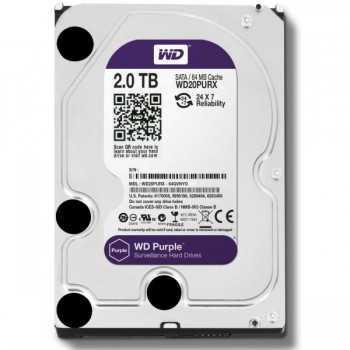 """Disque Dur Interne 3.5"""" Pour Video Surveillance WD Purple 1 To"""