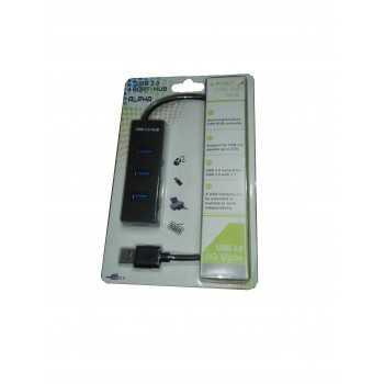 Hub Alpha USB 3.0 4 Ports (Noir)
