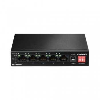 Switch Edimax 5 Ports Fast Ethernet avec 4 Ports PoE