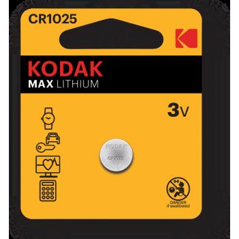 Pile Bouton KODAK Max CR1025 Lithium 3V