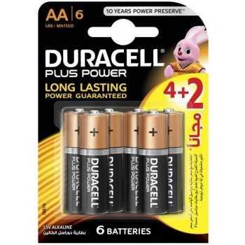 6x Piles Alcaline DURACELL Plus Power AA