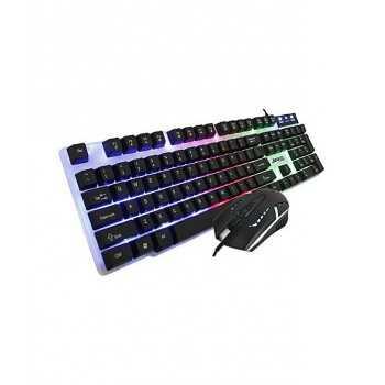Jedel GK100, Pack Gamer clavier RVB LED + souris 4D Noir